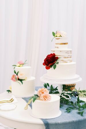 Trio of Wedding Cakes at The Madison in Cleveland, Ohio