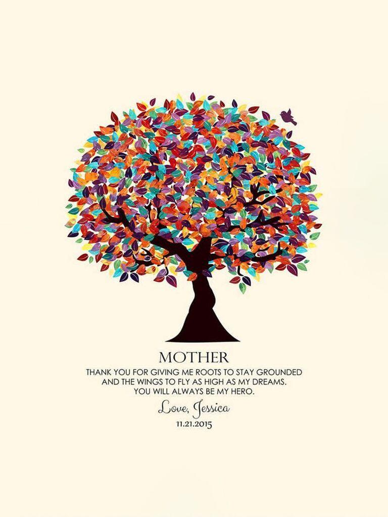 Family tree metal art print