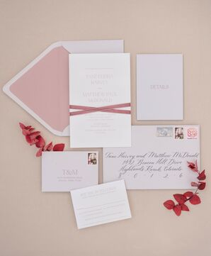 Blush-Toned Wedding Invitations and Paper Goods