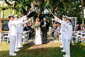 Military Sword Arch Wedding Exit