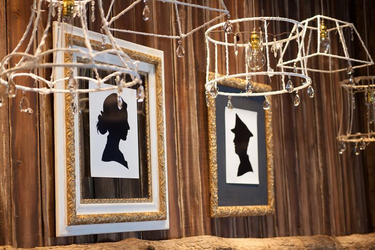 Naked Lamp Shades with Vintage Silhouettes