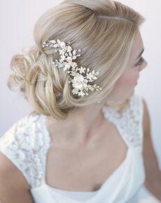 Dareth Colburn Ivory & Floral Bridal Clip (TC-2274) Gold Pins, Combs + Clip