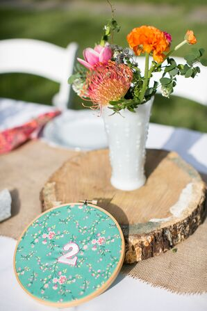 DIY Quilt Circle Cross-Stitch Table Numbers