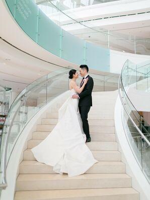 Wedding Portraits at Segerstrom Center for the Arts in Costa Mesa, California