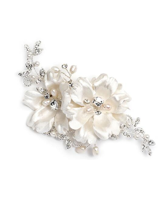 USABride Double Ivory Floral Comb Wedding Pins, Combs + Clips photo