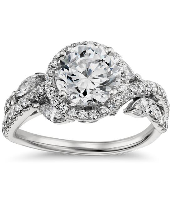 Monique Lhuillier Fine Jewelry Floral Halo Diamond Engagement Ring Engagement Ring photo