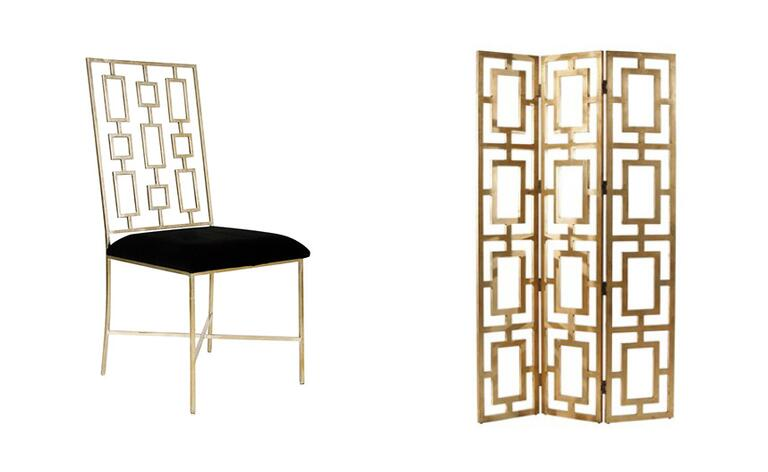 If You Re More Adventurous Consider Some Art Deco Inspired Furniture I Love The Rectangular Shapes On Both This Dining Chair And Room Screen