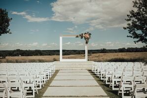 Contemporary Wedding Aisle and Arch