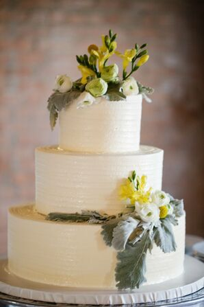 Combed Ivory Buttercream Cake