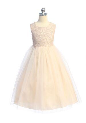Kid's Dream Lace Illusion Long Dress Flower Girl Dress