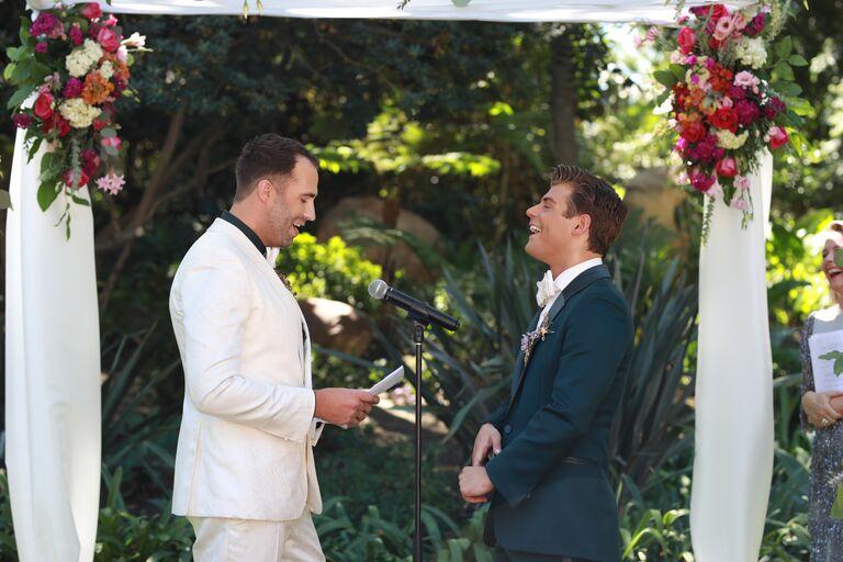 garrett clayton wedding laughter