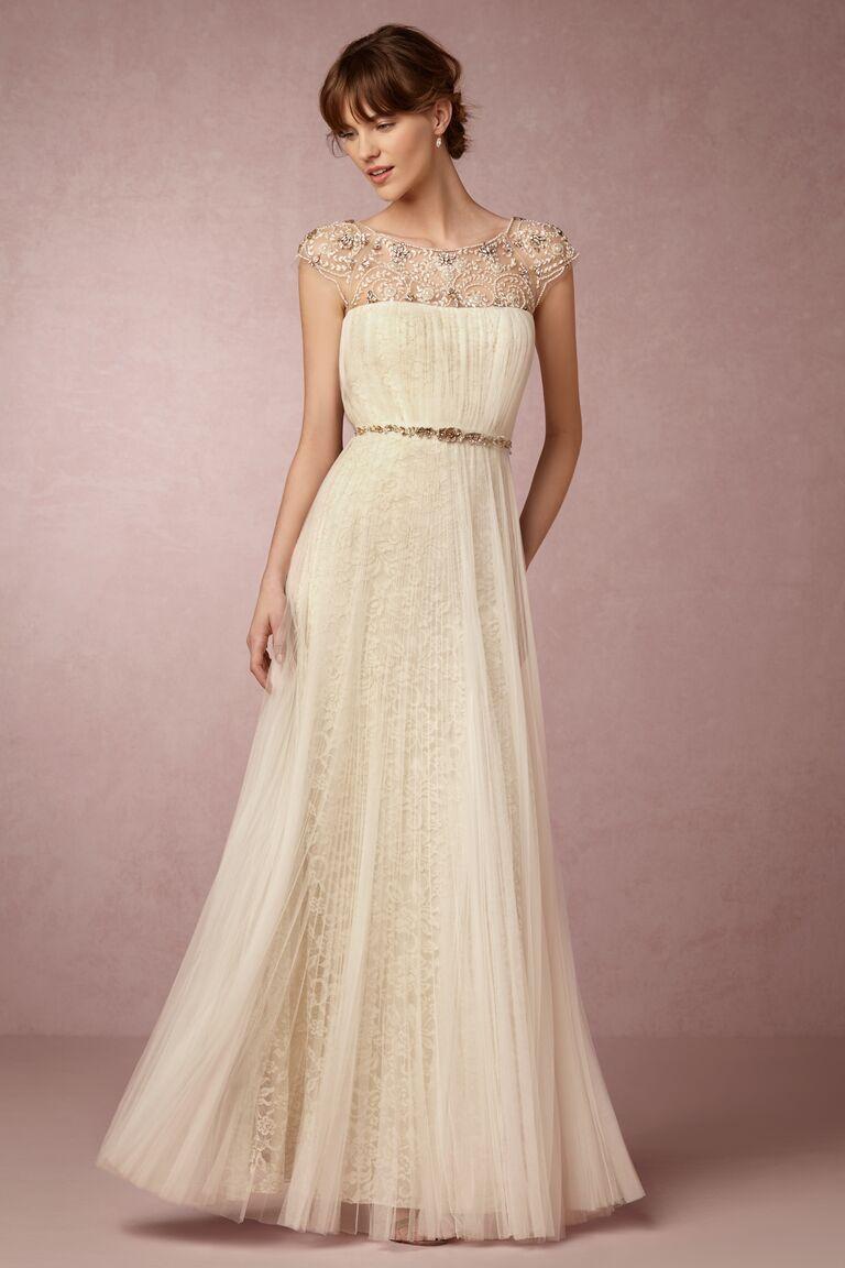 Marchesa Notte x BHLDN cap sleeve wedding dress