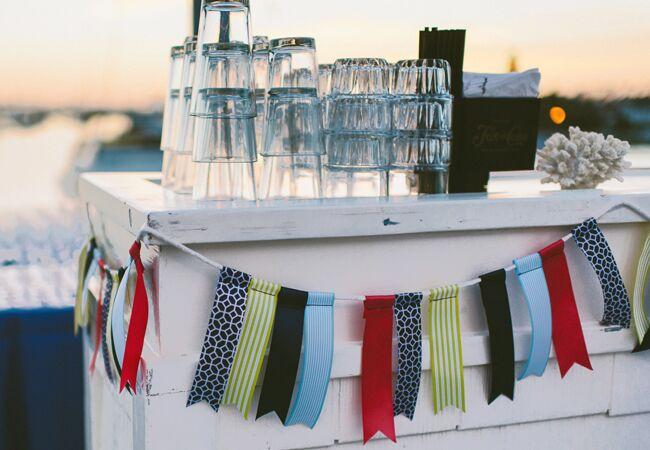 DIY ribbon wedding decor: Sargeant Photography / TheKnot.com