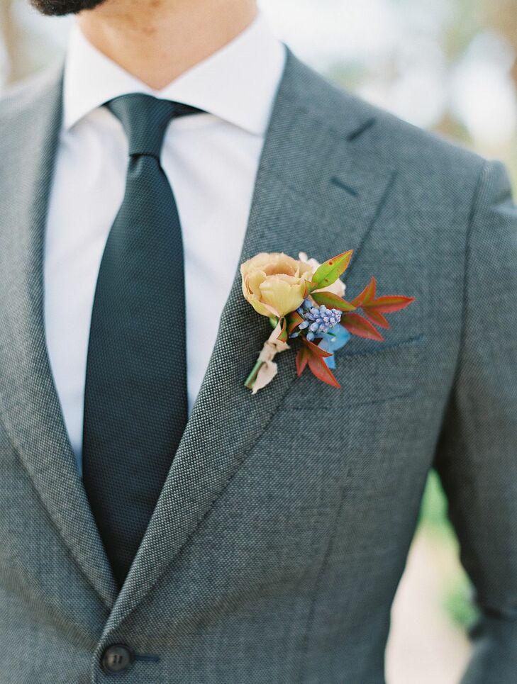 Colorful Boutonniere for Wedding in Coachella, California