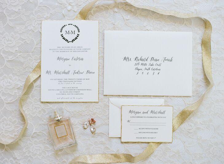 Classic Monogrammed Wedding Invitations